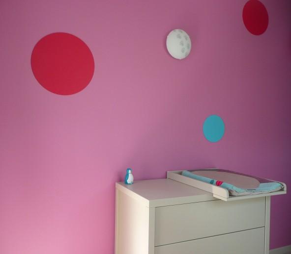 Peinture chambre enfant arts en couleurs for Chambre calisson moulin roty