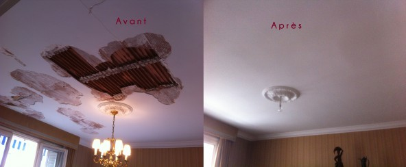 R novation plafond arts en couleurs for Renovation plafond