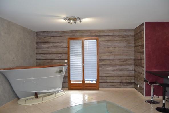 chaux ferr e papier peint bois arts en couleurs. Black Bedroom Furniture Sets. Home Design Ideas